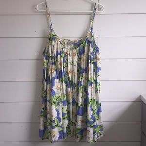 ASOS Pleated Floral Tank Top